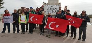 AFDOS üyeleri Çanakkale Şehitleri için yürüdü