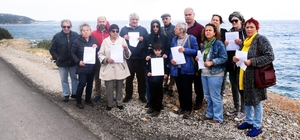 Bodrum'da, Belediye Başkan Yardımcısı'nın öldüğü yerde eylem