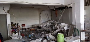 Ayvalık'ta gaz sıkışması patlamaya neden oldu: 1 yaralı