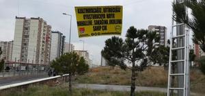 Kayseri'de CHP'li gençlerden uyuşturucu ile mücedele afişleri