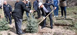 Yozgat'ta 700 fidan toprakla buluştu