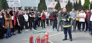 İtfaiye Müdürlüğü'nden yangın tatbikatı