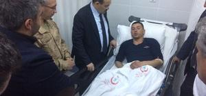 Vali Ustaoğlu, terör örgütünün hain saldırısında yaralanan köylüleri hastanede ziyaret etti