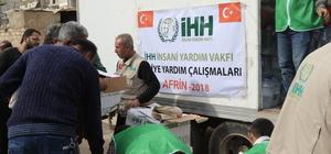 Afrin'deki ailelere insani yardım