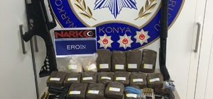 Uyuşturucu tacirinin evinden 8 buçuk kilo eroin ile 160 bin liralık altın ele geçirildi