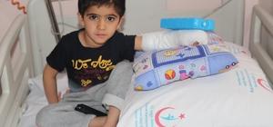 4 yaşında ki eli ters olan küçük Şiar sağlığına kavuştu