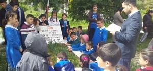 Öğrenciler, Şehit Jandarma Uzman Onbaşı Tekin Karaköse'nin kabrini ziyaret
