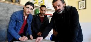 Şehit Ömer Halisdemir'in 2 boyutlu portresini yaptılar
