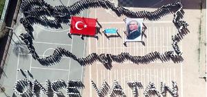 Sivas'ta 600 öğrenciden şehitler için koreografi