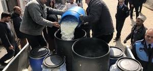 Reyhanlı'da tonlarca, süt ve süt sürünleri ile tavuk ve koyun eti imha edildi