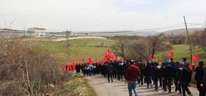 Malatya'da öğrenciler Mehmetçik için yürüdü