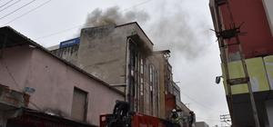 Samsun'da koltuk imalathanesinde yangın