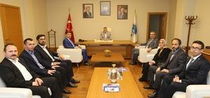 Başkan Toçoğlu, Hizmet-İş ve Çelik İş Sendikalarının yönetimim üyelerini ağırladı