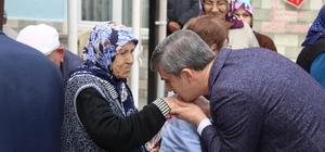 Başkan Şirin, huzurevinde kalan yaşlılarla buluştu