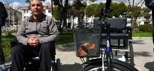 Engelli milli okçunun bisiklet heyecanı