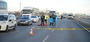 Otobüsün çarptığı yaya öldü