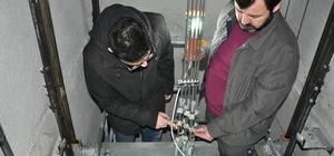 Simav'da asansör montaj ve yetkili servisleri denetlendi