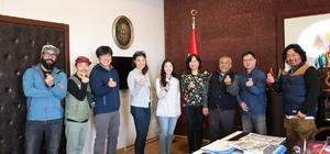 Youtube bloggerları Başkan Karaaslan'ı ziyaret etti