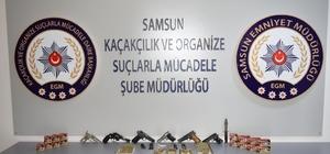 Samsun'da silah kaçakçılığı operasyonu