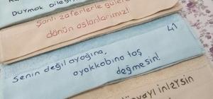 Kartepeli kadınlar Mehmetçik için havlu hazırladı
