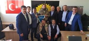 AK Partili başkanlardan Suriye'de güvenliği sağlayan Türk Polis Birliği teşkilatına ziyaret