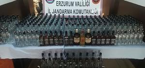 Erzurum'da 300 şişe kaçak içki ele geçirildi