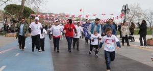 Özel çocukların kıyasıya yarışı