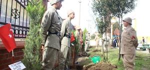 Öğrenciler, Afrin'de şehit düşen 46 Mehmetçik için 46 fidan diktiler