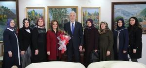 Ceyda Çetin Erenler ve yönetim kurulu üyeleri, Başkan Saraçoğlu'nu ziyaret etti