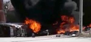 Kütahya'da otomobil, tavuk kümesi ve garaj yandı