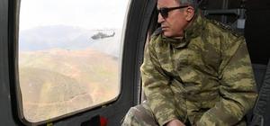Genelkurmay Başkanı Akar, Hakkari'de incelemelerde bulundu