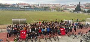 Öğrenciler Çanakkale Şehitleri için pedal çevirdi
