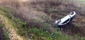 Tilkiye çarpan otomobil takla attı: 2 yaralı