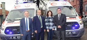 İl Sağlık Müdürlüğüne tam donanımlı iki ambulans takviyesi