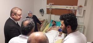 Vali Yavuz, şehit ailesini ve yaralı polisi ziyaret etti