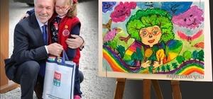 Minik ressam Nazife Elmas Yerli'ye bir ödül daha
