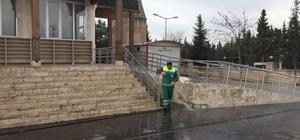 Okul ve ibadethanelerde temizlik çalışması yapıldı