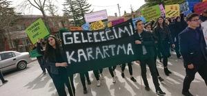 Seyitgazili öğrenciler 'Çocuk istismarı' için yürüdü