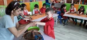 Anaokulu öğrencilerine çömlekçilik mesleği tanıtıldı