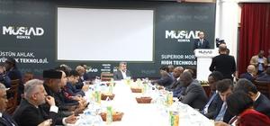 Afrikalı heyet, MÜSİAD Konya Şubesi'nde işadamlarıyla buluştu