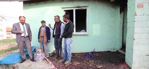Başkan Özaltun'dan evi yanan aileye destek