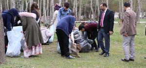 Öğrencilerden orman temizliği