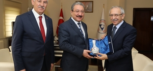 MEB Müsteşar Yardımcısı Prof. Dr. Bilgili'den ERÜ Rektörü Güven'e Ziyaret
