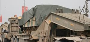 Afrin'e askeri araç sevkıyatı