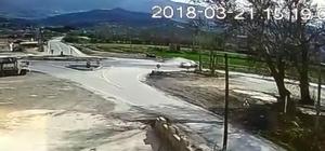 Manisa'daki kaza anı güvenlik kamerasında