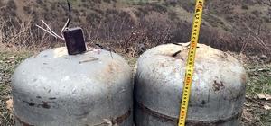 Bingöl'de teröristlere ait 60 kiloluk el yapımı patlayıcı imha edildi
