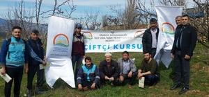Hisarcık'ta çiftçilere uygulamalı budama eğitimi
