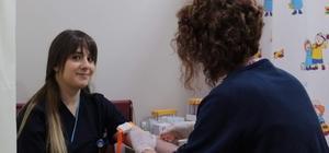 Hastanın acil kan ihtiyacına hemşire yetişti