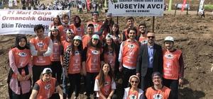 PAÜ Genç TEMA Topluluğu 500 fidanı toprakla buluşturdu