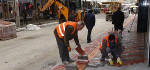 Bafra'da 2. etap kaldırım çalışmaları